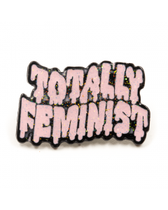 SWEET VENGEANCE | GLITTER TOTALLY FEMINIST ENAMEL PIN - Off Ya Tree