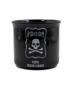 WAKE 'N' BAKE | POISON 100% DEATH LIQUID BLACK MUG