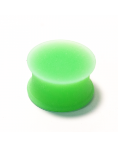 PUNKTURED | GREEN DOUBLE FLARED SILICONE PLUG - Off Ya Tree