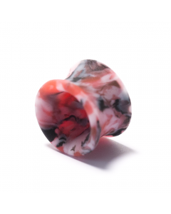 PUNKTURED | 14MM TIE DYE DOUBLE FLARED SILICONE PLUG - Off Ya Tree