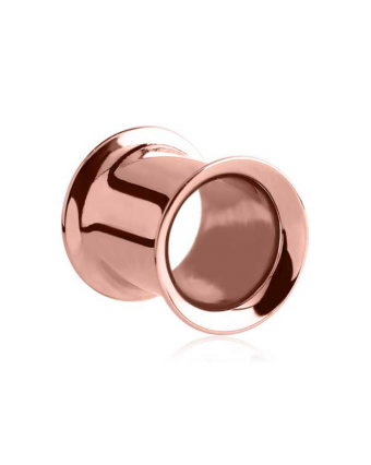 PUNKTURED   ROSE GOLD STEEL DOUBLE FLARED TUNNEL - Off Ya Tree