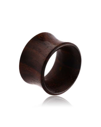 PUNKTURED |  ROSEWOOD DOUBLE FLARED SLIM CUT WOODEN TUNNEL - Off Ya Tree