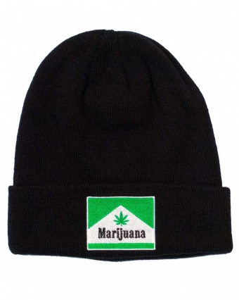 Highlines Black Weed Beanie Img 3   The Bong Shop