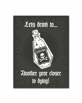 WAKE 'N' BAKE | ANOTHER YEAR CLOSER TO DYING GREETING CARD