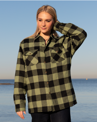 THC | GREEN SOFT PADDED FLANNEL JACKET