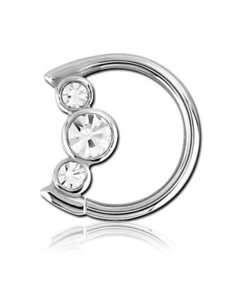 16 GAUGE | CRYSTAL MOON RIGHT AND LEFT EAR DAITH RING - Off Ya Tree