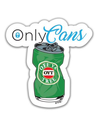 STICKER - ONLY CANS